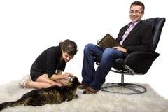 New Family Pet Cat Royalty Free Stock Photos