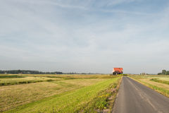 New farmhouse in a refurbed Dutch polder Royalty Free Stock Images