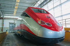 New fast train ready to exit Stock Photos