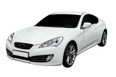 New fast white coupe car