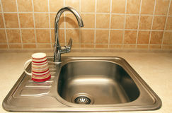 New faucets and sinks Royalty Free Stock Photos