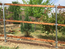 New fence building with steel tube Stock Photography