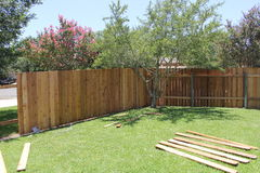 New fence Royalty Free Stock Photo