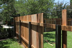 New fence stock image