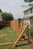 New fence. A new fence under construction Stock Photos