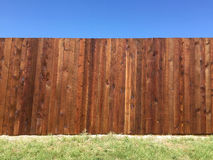New fence in the yard Royalty Free Stock Photos