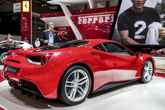 The new Ferrari 488. GTB on show at the Geneva Motorshow, Switzerland Stock Image
