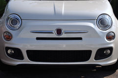 New Fiat 500 in a Dealership stock photography