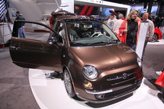New Fiat 500 Lounge Espresso Royalty Free Stock Photo