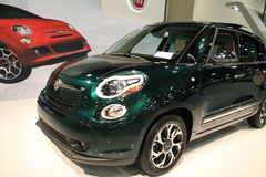 New fiat 500L close up front Stock Photo
