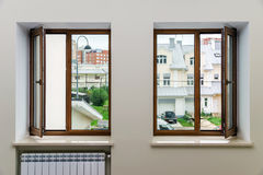 New fiberglass windows for apartments Royalty Free Stock Photography