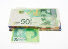 New fifty shekel notes Royalty Free Stock Photos