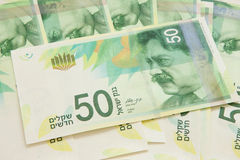 New fifty shekel notes Stock Photography