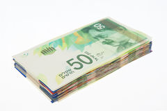 New fifty shekel notes Royalty Free Stock Photo