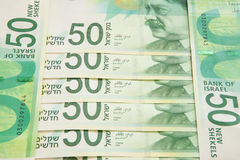 New fifty shekel notes Stock Image