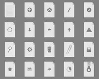 New file set icons Stock Images