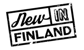New In Finland rubber stamp. Grunge design with dust scratches. Effects can be easily removed for a clean, crisp look. Color is easily changed Stock Image