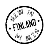 New In Finland rubber stamp. Grunge design with dust scratches. Effects can be easily removed for a clean, crisp look. Color is easily changed Royalty Free Stock Photos