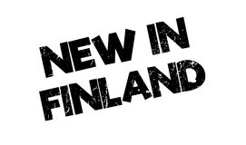 New In Finland rubber stamp. Grunge design with dust scratches. Effects can be easily removed for a clean, crisp look. Color is easily changed Stock Photo