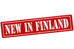 New in Finland. Stamp with text new in Finland inside,  illustration Stock Images