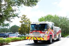 New fire engine, Florida Stock Photo