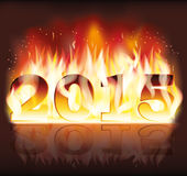 2015 New fire fkame year Royalty Free Stock Images