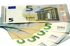New five euro banknote Royalty Free Stock Photography