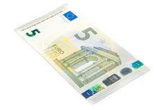 New five euro banknote front side Royalty Free Stock Photo