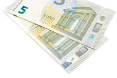 New five euros banknote front side Stock Photo
