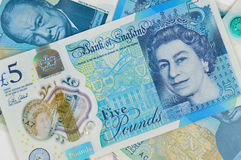 Five Pound Notes Royalty Free Stock Photo