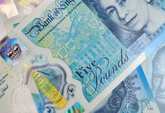 Five Pound Notes Stock Photography