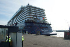 The new flag ship `Mein Schiff 6` from Tui Cruises makes it first call to the Port of Kiel Stock Image