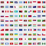 New flags of the world set. For web and mobile devices Vector Illustration