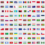 New flags of the world set. For web and mobile devices stock illustration