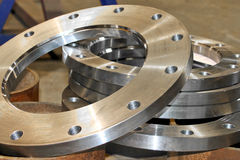 New flanges Stock Photo