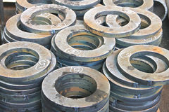 New flanges in the workshop Stock Image