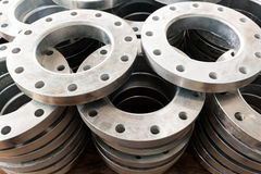 New flanges in the workshop Royalty Free Stock Photography
