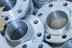 New flanges in the workshop of the plant Royalty Free Stock Photography