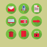 New flat icon green red Royalty Free Stock Photo