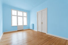 New flat in old building - renovated room royalty free stock photo