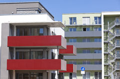 New Flats. New modern flats, facade of luxury house stock images