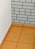 New floor. New tiles on balcony floor and new renovated walls Stock Photo