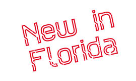 New In Florida rubber stamp Stock Image