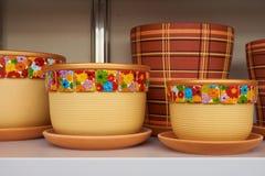 New flower pots Stock Photos