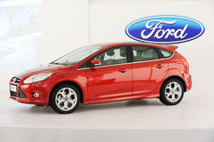 New focus with ford logo Stock Photos