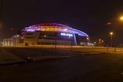 The New Natanya football stadium illuminated at night Royalty Free Stock Photo