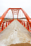 New footbridge. Frame of a new footbridge Stock Images