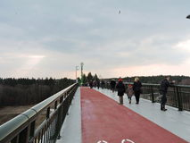 New footbridge, Lithuania Royalty Free Stock Photography