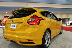 New 2014 ford focus st rear angle 08 Royalty Free Stock Photo