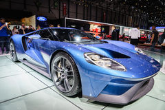 New Ford GT, Motor Show Geneve 2015. Royalty Free Stock Photo